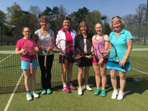 2017-04-10 Ladies First team - promoted to Div 2