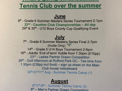 Whats going on at Caunton TC over the Summer (June 2019)