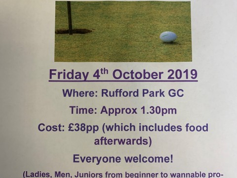 Golf Afternoon October 2019